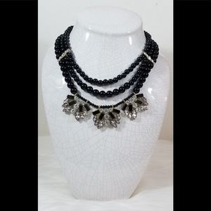 NWT New York & Company Black Multi Strand Necklace